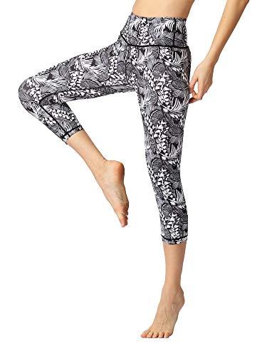 FLYILY Vrouwen Capris Sport Leggings Running Panty Hoge Taille Bandage Stretch Fitness Yoga Broek