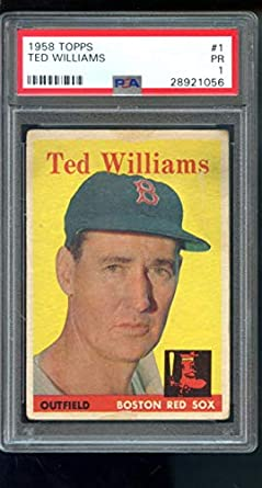 Amazoncom 1958 Topps 1 Ted Williams Boston Red Sox Mlb