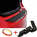Rear Bumper Protector, Back Bumper Protector Guard Universal Black Rubber Durable Protect and Hide Scratches, Bumper Guards for Cars /SUV, Easy D.I.Y. Installation(35.8Inch)