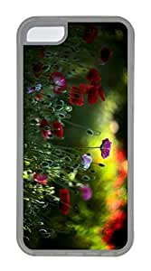 iPhone 5C Case, Customized Protective Soft TPU Clear Case for iphone 5C - Flowers Cover