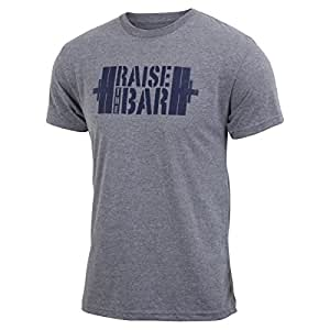 Raise the Bar - Gray - Men's Barbell Triblend T-shirt