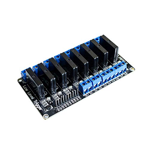 10PCS/LOT 8 Channel 5V DC Relay Module Solid State Low Level SSR AVR DSP for by ElectronicFuns