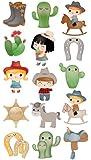 EK Success Brands Decorative Sticko Stickers, Cowboy Cuties