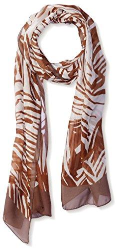 Salvatore Ferragamo Women's Patterned Silk Scarf, Brown/White