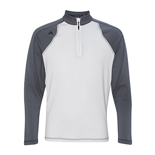 adidas Golf ClimaWarm 3-Stripes Color Block 1/4-Zip Training Top XL White/ (1/4 Zip Color)