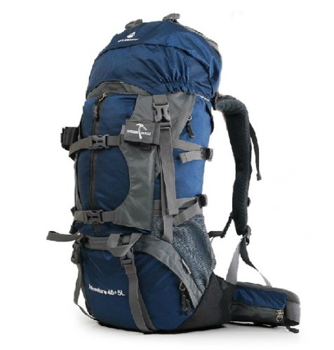 MLS2056 Professional Multifunction Outdoor Sport Camping Hiking Trekking Mountain Climbing Backpack 55L -65L (Blue, Capacity 55L)