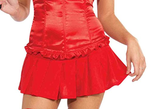 Sultry Devil Costumes (Forum Novelties Women's Pleated Costume Mini Skirt, Red, One Size)