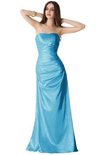 sunvary modesto 2015Mujer Vaina vestidos de dama larga noche Prom Fiesta de tul Azul