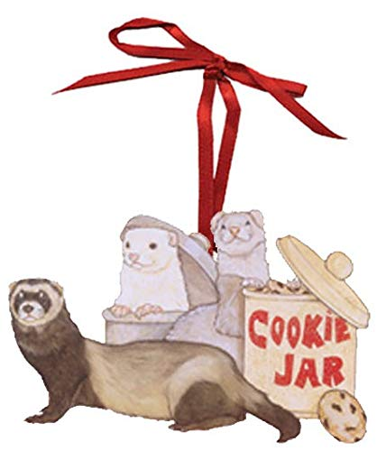 Animal Pet Gifts, Ferret Cookie Jar Wooden Ornament