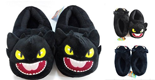 Toothless Night Fury Costumes (How to Train Your Dragon Toothless Night Fury Plush slippers 9
