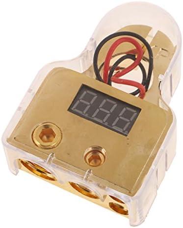 H HILABEE 金メッキ1/0 4ゲージ車自動バッテリーターミナルクランプデジタル表示