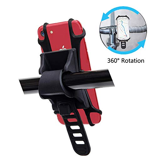 Lizvision Universal Bike Cell Phone Mount,Adjustable 360 Degree Rotation Phone Holder for Bicycle and Motorcycle Handlebar, Compatible with from 4.5 inch to 7 inch Screen Cell Phone