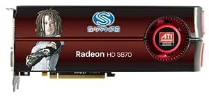 Sapphire Radeon HD 5870 1 GB DDR5 Dual DVI-I/HDMI/DP PCI-Express Graphics Card 100281-2SR