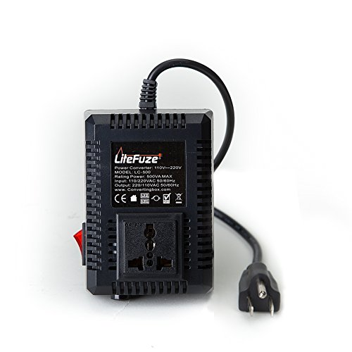 - LiteFuze LC-500US 500Watt Step Up/Down Travel Voltage Converter, US Cord