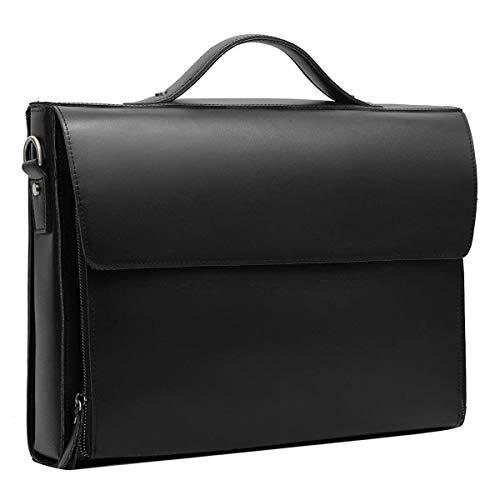(Leathario Leather Briefcase for Men Leather Laptop Bag Shoulder Messenger Bag Business Work Bag)