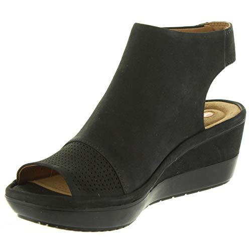 Clarks Nubuck Black Pour Femme Sandales Wynnmere 26133554 rrHYX