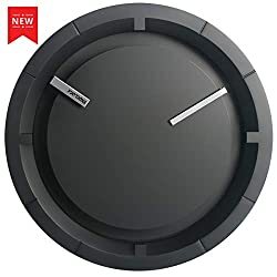 Wall Clock, 2019 New Modern Black Analog Clock, Silent Non-Ticking - 12 Inch Quality Quartz Battery Operated Round, Decorative Clock for Living Room Bedroom Office/Home/School Gift Clock (Black)