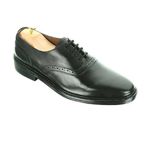 Damen Frost Handmade Adams Mens Leather Shoes, Dress Casual Oxfords Leather Footwear, Color Black, Size US10 by Damen Frost