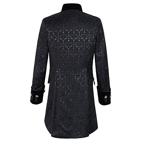 Outwear Noir Gothique Veste La Manteau D'impression Mode Shennanji Uniforme Costume Praty De Gilet Des Hommes OqUxTpF