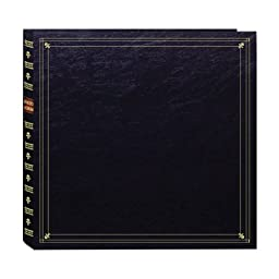 Pioneer Photo Albums 300-Pocket Post Bound Leatherette Cover Photo Album for 3.5 by 5.25-Inch Prints, Black