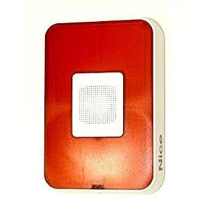 HSSO1 NICE sistema de alarma antirrobo Sirena para exteriores vía radio