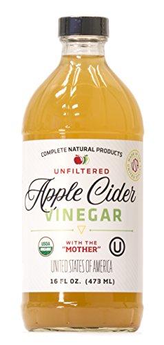 Apple Cider Vinegar 16oz - Unfiltered, Kosher, USDA Organic, Raw with The ()