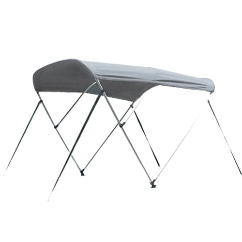 New Deluxe 600d Solution Dyed with 1 Inch Aluminum Frame 3 Bow Bimini Top Boat Cover with Mounting Hardwares