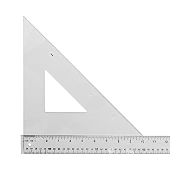 Amazon Com Westcott Student Grade Polystyrene Triangle  Degrees 10 Inches Clear Industrial Scientific