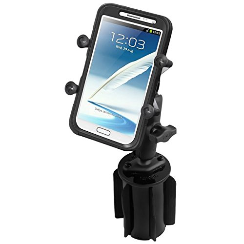 RAM Mounts (RAP-299-3-UN10) Ram-A-Can Ii Universal Cup Holder Mount with Universal X-Grip Iv Large Phone/Phablet Holder