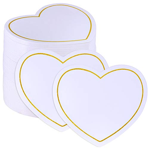 Supla 100 Pcs Wedding Heart Cutout Place Cards