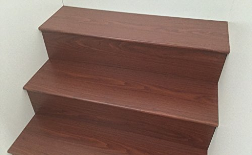 Laminate Flooring Stair Tread System 6 kits per box (Brown Alder) (Stair Kit)