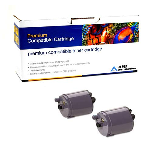 AIM Compatible Replacement for Samsung CLP-300 Black Toner Cartridge (2/PK-2000 Page Yield) (CLP-P300B) - Generic ()