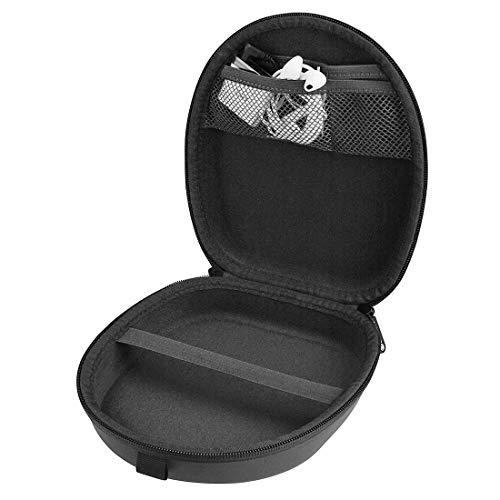 Linkidea Headphone Case for Bose QC35 II, QC35, QC25, QC15, SoundLink, SoundTrue Around-Ear Headphones II Hard Shell Carrying Case/Travel Bag (Black PU)