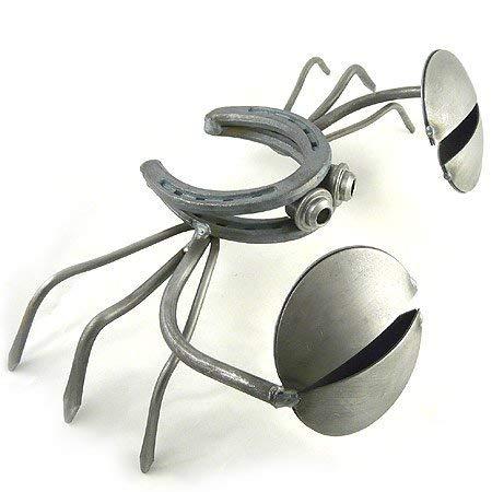 "Yardbirds Horseshoe Crab - American Made Recycled Metal Garden Sculpture, 13"""