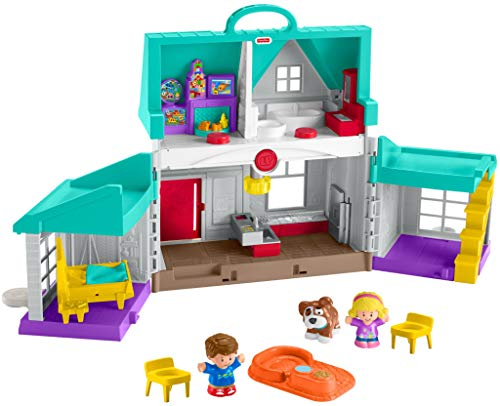 Fisher-Price Little People Big Helpers Home, Blue...