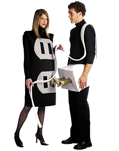 Plug and Socket Set Costume Set - One Size - Chest Size (Funny Halloween Couple Costumes Ideas)