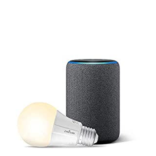 Echo (3rd Gen) Charcoal Bundle with Sengled Wi-Fi Smart Bulb