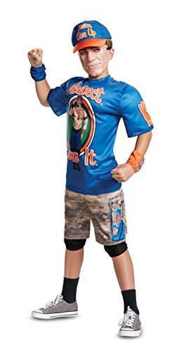 Disguise John Cena Classic Muscle Child Costume, Blue, Large/(10-12)