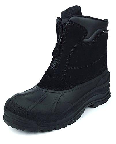 MEADA A106 Winter Duck Snow Boot Black 11