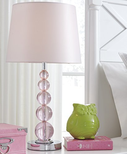 Laty Pink Color Crystal Table Lamp For Sale