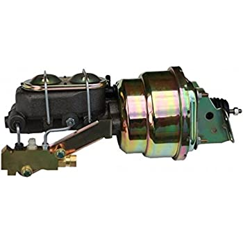 "1-1//8/"" Master Cylinder Disc Drum Valve Kit 7/"" Dual Zinc Power Brake Booster"