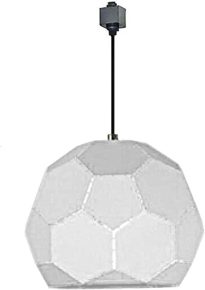 Kiven H Track Lighting Pendant Fixture 1 Light 11 Geometric Dome Pendant White Amazon Com