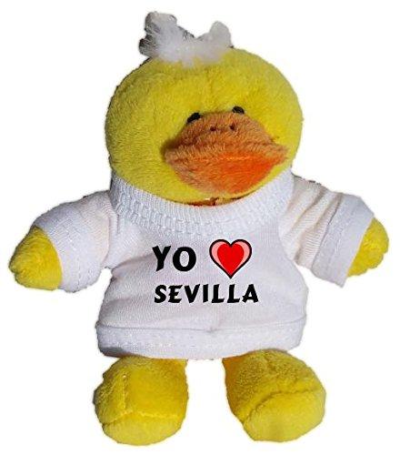 Pollo de peluche (llavero) con Amo Sevilla en la camiseta ...