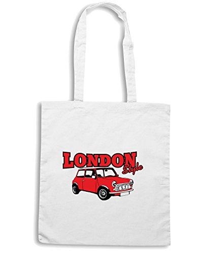 mini Bolsa moto la Shirtshock T Blanco motori STYLE cooper para compra LONDON T0159 auto Tw1q8q