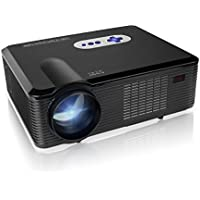 Mileagea HD Projector Full Color 720P 2800 Lumens Digital TV Single LCD Panel LED Technology Multimedia Beamer Home Cinema