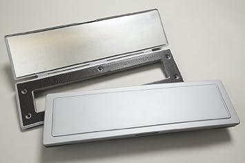 Magflap Briefkasten Zugluftstopper Magnetisch Silberfarben