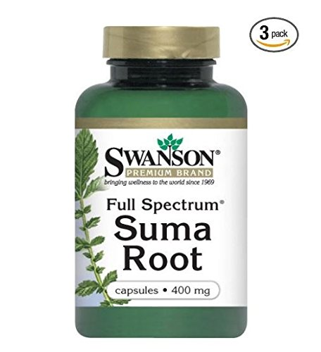 Swanson Full Spectrum Suma Root (pack of 3) 60 capsules each 400mg