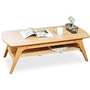 アイリスプラザ テーブル ローテーブル 引き出し収納付き 棚付き DLT-1200