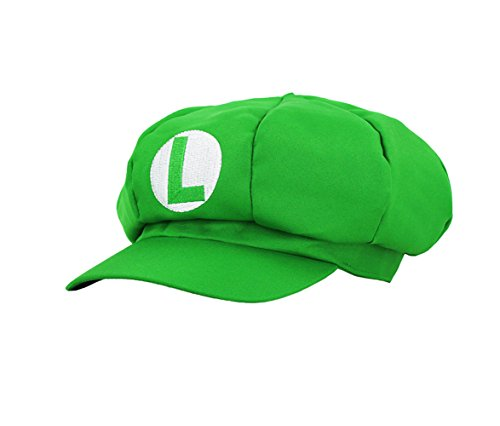 Unisex Super Mario Bros Cosplay Hat Cap Newsboy Gift (Green)