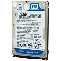 WESTERN DIGITAL WD7500BPVT Scorpio Blue 320GB 5400 RPM 8MB cache SATA 3.0Gb/s 2.5 internal notebook hard drive (Bare Dri